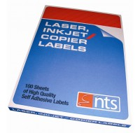 NTS C547 High Quality Labels For Laser, Copier & Inkjet 6 Per Sheet 99.1 x 93.1mm