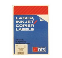 NTS High Quality Labels For Laser, Copier & Inkjet 12 Per Sheet 63.5 x 72mm