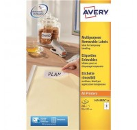 Avery Removable Laser Label 8Tv Per Sheet White L4745Rev-25