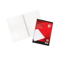 5 Star 100 Page A4 Wirebound Ruled And Perforated Margin Notebooks 70gsm
