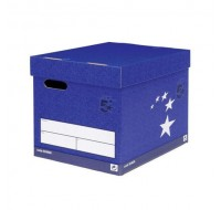 5 Star Superstrong Blue Storage Box 307 x 403 x 320mm - File Storage Boxes