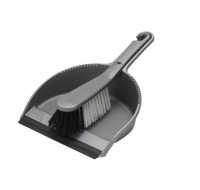 Addis Metallic Dustpan And Soft Brush Set