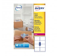 Avery Jam-Free Laser Address Label White 99.1 x 67.7mm 8 Per Sheet L7165-500 (Fpc)