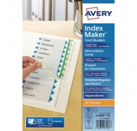 Avery 12-Part A4 White Punched Index Makers 01640061 - File Dividers