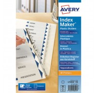 Avery Clear 10-Part Index Maker 05113081 - File Dividers