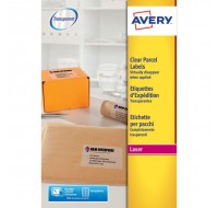 Avery Clear Laser Label A4 1 Per Sheet L7567-25