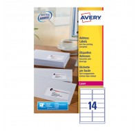 Avery Jam-Free Laser Label 99.1X38.1Mm 14 Per Sheet White L7163-40 (Fpc)