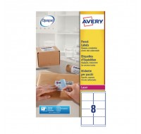 Avery Jam-Free Laser Label 99.1 x 67.7mm 8 Per Sheet White L7165-40 (Fpc)
