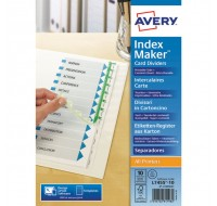 Avery 10-Part White Extra-Wide A4 Index Maker Dividers 01999001 - File Dividers