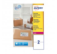 Avery Laser Shipping Label White 199.6X143.5Mm 2 Per Sheet Lr7168-100