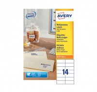 Avery Multi-Purpose Label 105 x 42.3mm 14 Per Sheet White Sheets 3653
