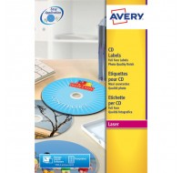 Avery Full Face CD/DVD Glossy Colour Laser Label 2 Per Sheet L7760-25