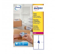 Avery Jam-Free Laser Address Label 4Tv 139X99.1Mm 4 Per Sheet White L7169-250 (Fpc)
