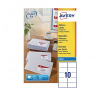 Avery Quickdry Inkjet Label 99.1 x 57mm 10 Per Sheet White J8173-100