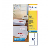 Avery Quickdry Inkjet Label 63.5 x 72mm 12 Per Sheet White J8164-100