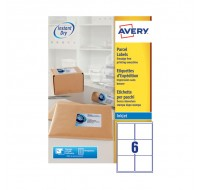Avery Quickdry Inkjet Label 99.1 x 93.1mm 6 Per Sheet White J8166-100