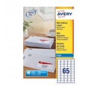 Avery Mini Inkjet Address Label 65 Per Sheet White J8651-100