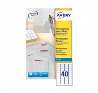 Avery Mini Inkjet Label 45.7 x 25.4mm 40 Per Sheet White J8654-25