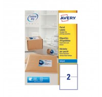 Avery Quickdry Inkjet Label 199.6 x 143.5mm 2 Per Sheet J8168-100