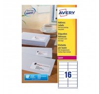 Avery Jam-Free Laser Label 99.1 x 34mm 16 Per Sheet White L7162-100 (Fpc)