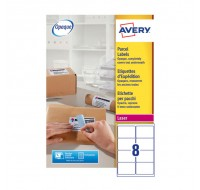 Avery Jam-Free Laser Address Label White 99.1 x 67.7mm 8 Per Sheet L7165-250 (Fpc)
