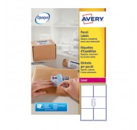 Avery Jam-Free Laser Label 99.1 x 93.1mm 6 Per Sheet White L7166-100 (Fpc)