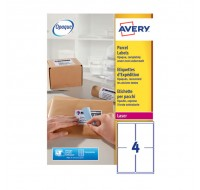 Avery Jam-Free Laser Label 139 x 99.1mm 4 Per Sheet L7169-100 (Fpc)