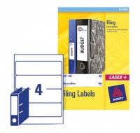 Avery Lever Arch File Label A4 4 Per Sheet L7171-25 - Filing Accessories