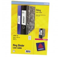 Avery Ring Binder Label Sheets L7172-25 - Filing Accessories