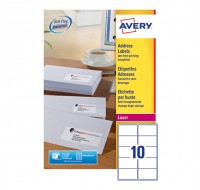 Avery Jam-Free Laser Label 99.1 x 57mm 10 Per Sheet L7173-100 (Fpc)