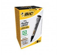 Bic Black Chisel Tip Permanent Markers 300093 820926