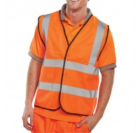 Proforce High Visibility Large Class 2 Orange Vest HV05OR-L - High Visibility Clothing