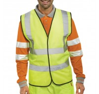 Proforce High Visibility Class 2 Large Yellow Vest HV08YL-L - High Visibility Clothing