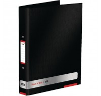Elba Black n' Red Ring Binder Each 400051510 - A4 Ring Binder