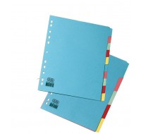 Elba A4 5-Part Card Divider Assorted 100080808 - File Dividers