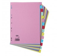 Elba A4 15-Part Assorted Card Dividers 100080774 - File Dividers