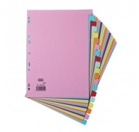 Elba A4 20-Part Assorted Card Dividers 100080775 - File Dividers
