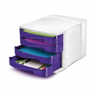 CEP Pro Gloss 4 Drawer Purple Module 394BI - Drawer Sets
