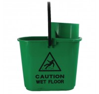Contico Green 15 Litre Mop Bucket Wringer SM15GREEN - Cleaning Buckets