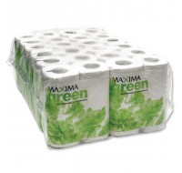 Maxima Green 200 Sheet White Toilet Roll - Toilet Paper