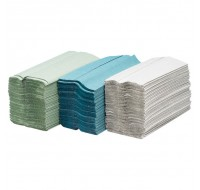Maxima Green C-Fold 2-Ply White Hand Towel Pack Of 120 - Paper Hand Towels