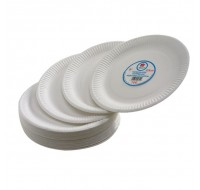 Paper Plate 7 Inch White - Office Crockery
