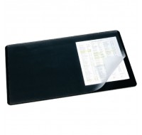 Durable Clear/Black Desk Mat 400x530mm 7202/01