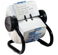 Rolodex Black Classic 500 Rotary Open Card File S0793600 - Rotary Card Holder