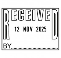 Colop P700 Dated Received Stamp P700REC - Word Stamp
