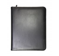 Monolith Black Zipped Leather A4 Conference Folder 2924 - Conference Folder