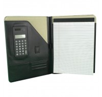 Monolith Black Leather Conference Folder With A4 Pad 2925 - Leather Conference Folder