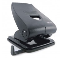 Rapesco 835-P Black Metal Heavy Duty 2-Hole Punch