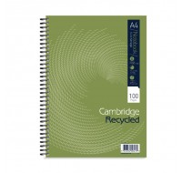 Cambridge 100 Page Recycled A4 Wirebound Notebook 400020196