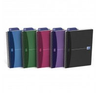 Oxford Office A5+ Soft Cover Ruled Feint Pack Of 5 Assorted Notebooks 100101300